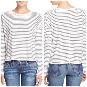 Rag & Bone White and Black Striped Long Sleeve XS